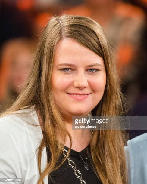 Abduction victim Natascha Kampusch pictured in the studio after the recording of ZDF talk show Markus Lanz in Hamburg Germany 24 August 2016 Photo...