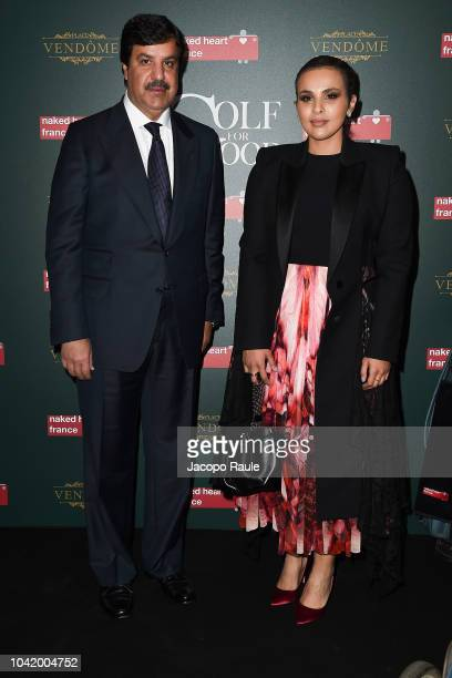 Abdul Aziz Mohammed Al Rabban and Sheikha Aisha Al Thani attend the Naked Heart France Gala Dinner as part of the Paris Fashion Week Womenswear...