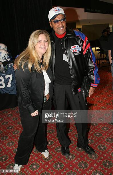 Abdul Duke Fakir of the Four Tops and guest during Official Celebrity Gift Lounge Super Bowl XL Produced by On 3 Productions Day 1 at Renaissance...