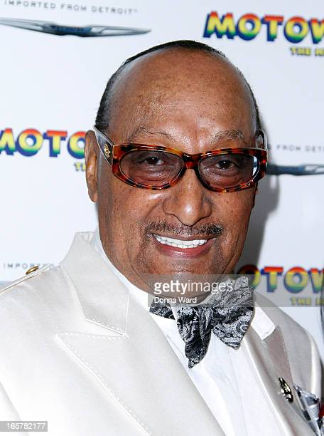 Abdul 'Duke' Fakir of the Four Tops attends 'Motown The Musical' Motown Family Night at LuntFontanne Theatre on April 5 2013 in New York City