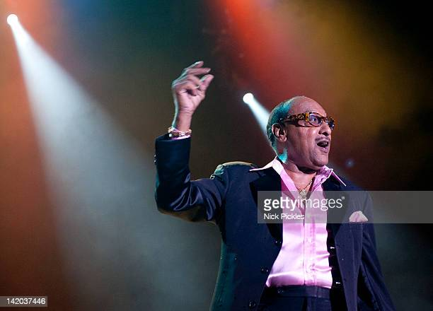 Abdul 'Duke' Fakir of The Four Tops performs at O2 Arena on March 28 2012 in London England