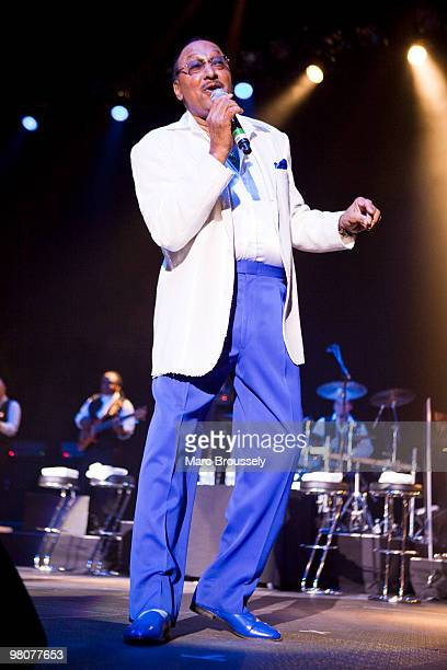 Abdul Duke Fakir of The Four Tops performs at the O2 Arena on March 26 2010 in London England