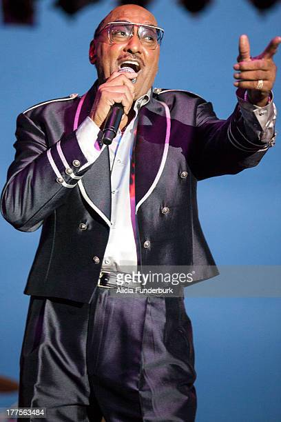 Abdul 'Duke' Fakir of the Four Tops performs during the 2013 Biltmore Concert Series at the Biltmore on August 23 2013 in Asheville North Carolina