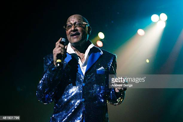 Abdul Duke Fakir of The Four Tops performs on stage at First Direct Arena on April 1 2014 in Leeds United Kingdom