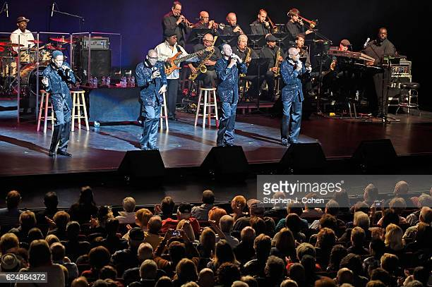 Abdul Duke Fakir Ronnie McNeir Lawrence Payton Jr and Harold Bonhart of The Four Tops performs at Whitney Hall on November 20 2016 in Louisville...