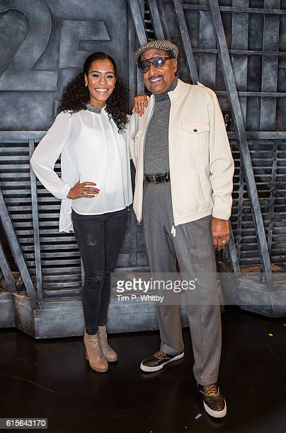 Abdul 'Duke' Fakir the last living member of The Four Tops poses for a photo with Lucy St Louis currently starring as Diana Ross during a visit to...