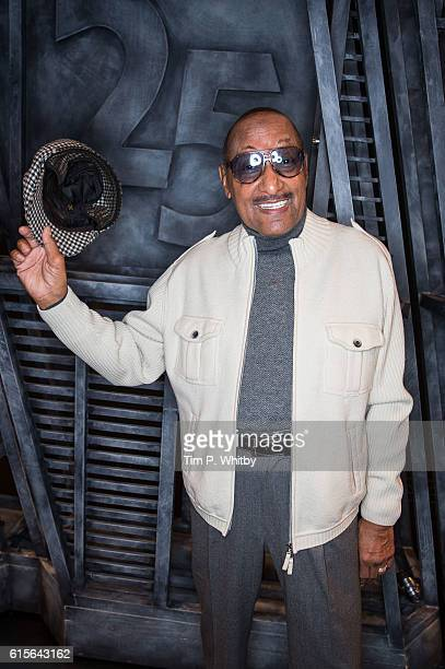 Abdul 'Duke' Fakir the last living member of The Four Tops visits 'Motown The Musical' at Shaftesbury Theatre on October 19 2016 in London England