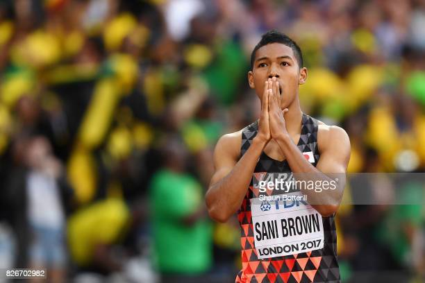 Abdul Hakim Sani Brown of Japan competes in the Men's 100 metres semifinals during day two of the 16th IAAF World Athletics Championships London 2017...