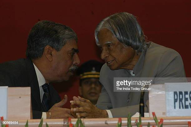 Abdul Kalam President of India with Vijay Shankar Director of the Central Bureau of Investigation at State anti corruption Bureau meeting held by CBI...