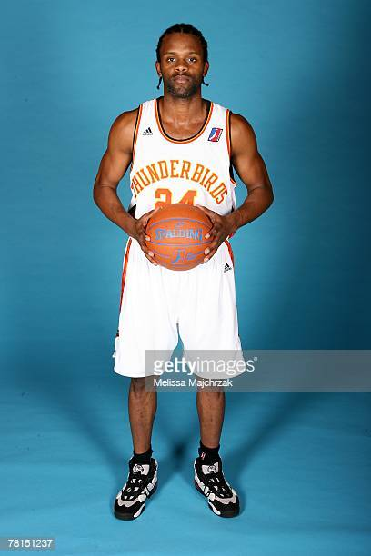 Abdul Mills of the Albuquerque Thunderbirds poses for a portrait during DLeague media day on November 13 2007 at the Open Court in Lehi Utah NOTE TO...