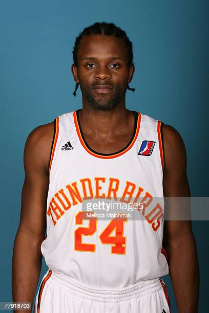 Abdul Mills of the Thunderbirds DLeaque poses for a portrait during media day on November 13 2007 at the Open Court in Lehi Utah NOTE TO USER User...