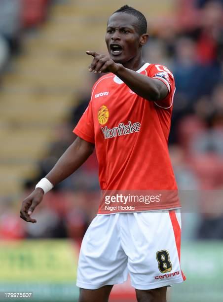 Abdul Osman of Crewe Alexander during their Sky Bet League One match against Peterborough United at the Alexandra Stadium on September 7 2013 in...