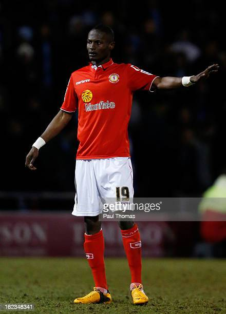 Abdul Osman of Crewe in action during the Johnstone's Paint Trophy Northern Section Final Second Leg match between Crewe Alexandra and Coventry City...