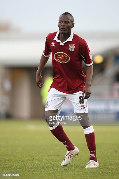 Abdul Osman of Northampton Town in action during the npower League Two match between Northampton Town and Port Vale at Sixfields Stadium on November...