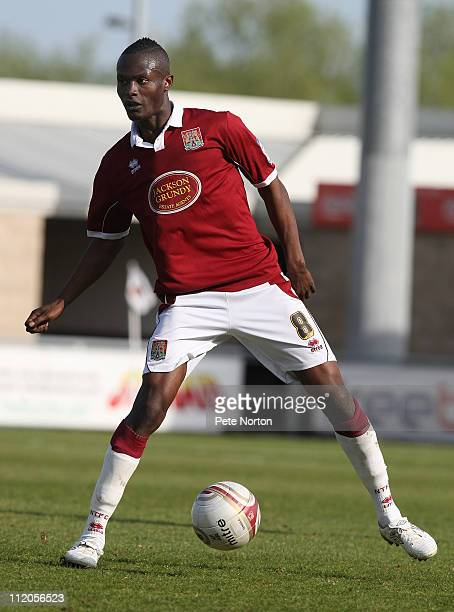 Abdul Osman of Northampton Town in action during the npower League Two League match between Northampton Town and Bury at Sixfields Stadium on April 9...