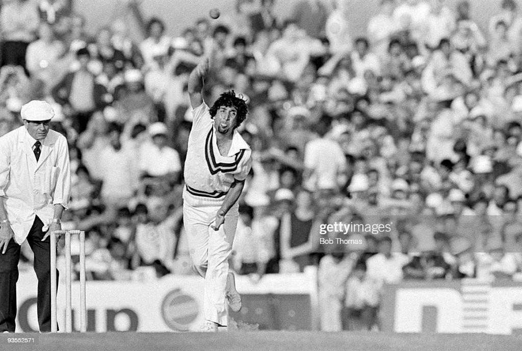 Abdul Qadir - Prudential Cricket World Cup : News Photo