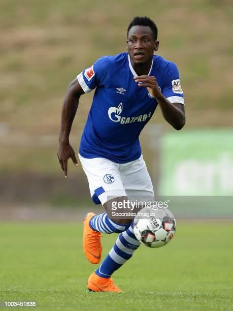 Abdul Rahman Baba of Schalke 04 during the Club Friendly match between Schalke 04 v Schwarz Weiss Essen at the Uhlenkrugstadion on July 21 2018 in...