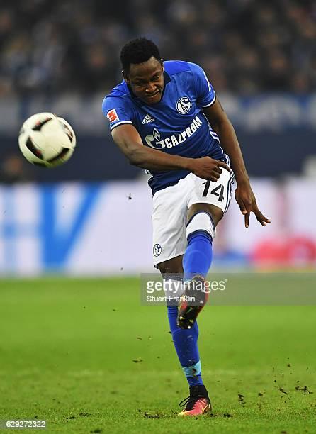 Abdul Rahman Baba of Schalke in action during the Bundesliga match between FC Schalke 04 and Bayer 04 Leverkusen at VeltinsArena on December 11 2016...