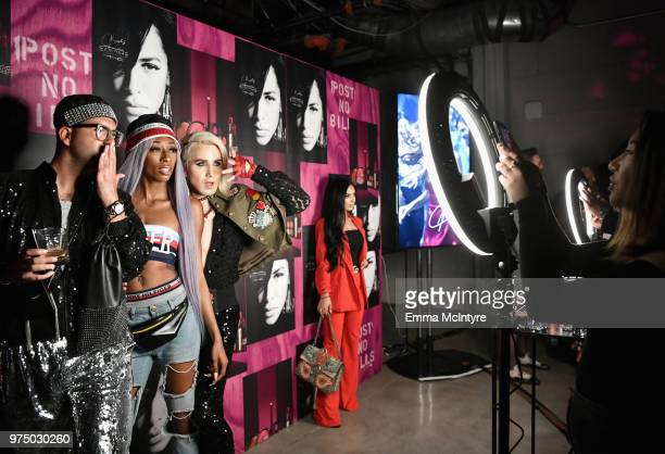 Abdul Rahman Lala Milan and Ricky Rebel attend MAC Cosmetics Aaliyah Launch Party on June 14 2018 in Hollywood California