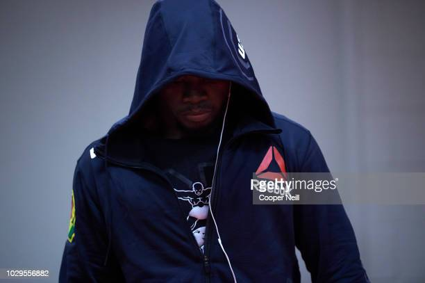 Abdul Razak Alhassan warms up in the locker room before fighting Niko Price during the UFC 228 event at American Airlines Center on September 8 2018...