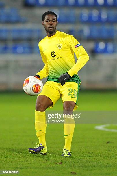 Abdul Razak of FC Anji Makhachkala in action during the UEFA Europa League group stage match between FC Anji Makhachkala and Tottenham Hotspur FC...