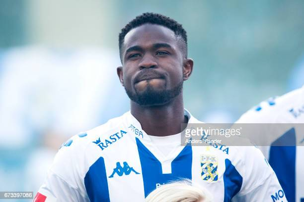 Abdul Razak of IFK Goteborg looks on prior to the Allsvenskan match between IFK Goteborg and Hammarby IF at Gamla Ullevi on April 26 2017 in...