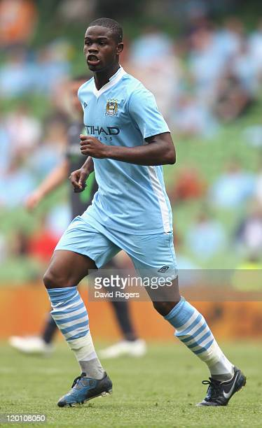 Abdul Razak of Manchester City looks on during the Dublin Super Cup match between Manchester City and Airtricity XI at Aviva Stadium on July 30, 2011...