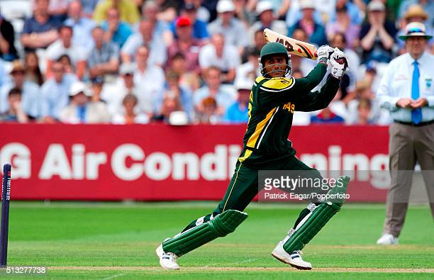 Abdul Razzaq batting for Pakistan during his innings of 64 in the NatWest Challenge One Day International between England and Pakistan at Lord's...