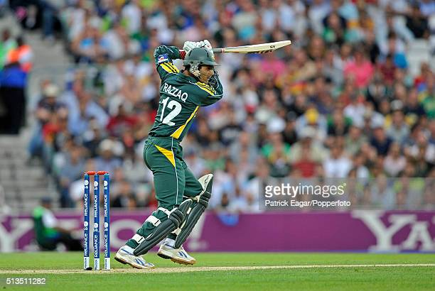 Abdul Razzaq batting for Pakistan during the ICC World Twenty20 Super Eights match between New Zealand and Pakistan at The Oval London 13th June 2009...