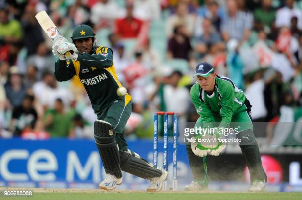 Abdul Razzaq batting for Pakistan during the ICC World Twenty20 Super Eight match between Ireland and Pakistan at The Oval London 15th June 2009 The...