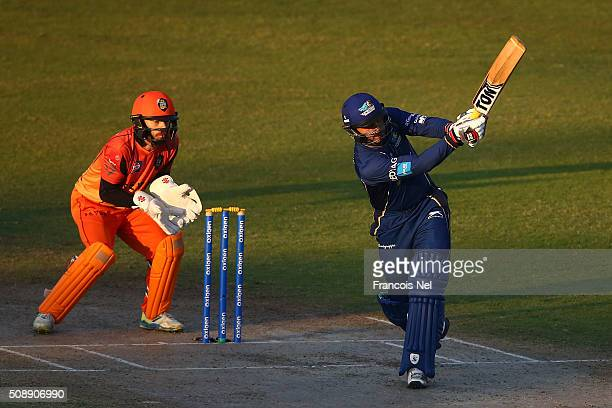 Abdul Razzaq of Capricorn bats during the Oxigen Masters Champions League match between Virgo Super Kings and Capricorn Commanders on February 7 2016...