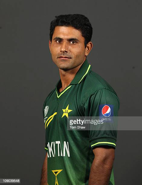 Abdul Razzaq of Pakistan poses for a portrait during the Pakistan Portrait session at the Sheraton Hotel on February 13 2011 in Dhaka Bangladesh