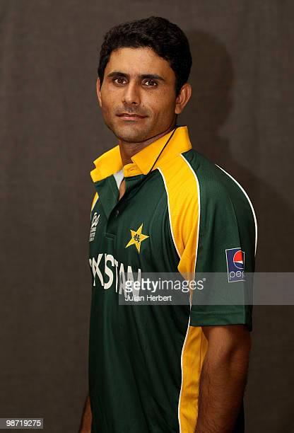 Abdul Razzaq of The Pakistan Twenty20 squad poses for a portrait on April 26 2010 in Gros Islet Saint Lucia