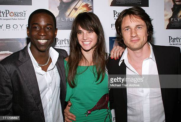 Abdul Salis Jennifer Decker and Martin Henderson during Flyboys Los Angeles Screening Arrivals at Academy of Motion Picture Arts Sciences in Beverly...