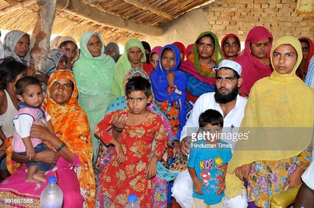 Abdul Sattars family the farmer who died in May at Fursatganj on July 4 2018 in Amethi India
