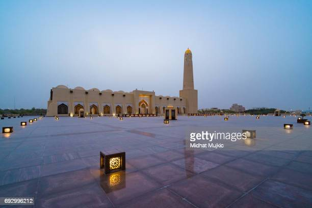 abdul wahhab mosque, doha, qatar - doha stock pictures, royalty-free photos & images