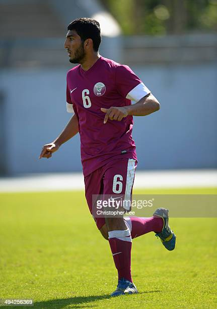 Abdulaziz Al-Khalosi of Qatar in action during the Toulon Tournament Group B match between Colombia and Qatar at the Stade De Lattre on May 28, 2014...