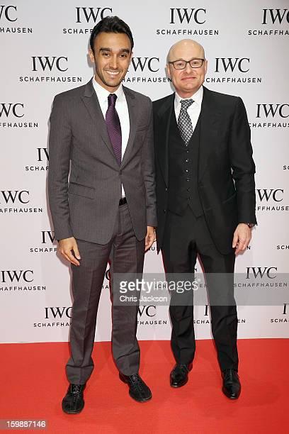 Abdulaziz Turki Al Faisal and Georges Kern attend the IWC Schaffhausen Race Night event during the Salon International de la Haute Horlogerie 2013 at...