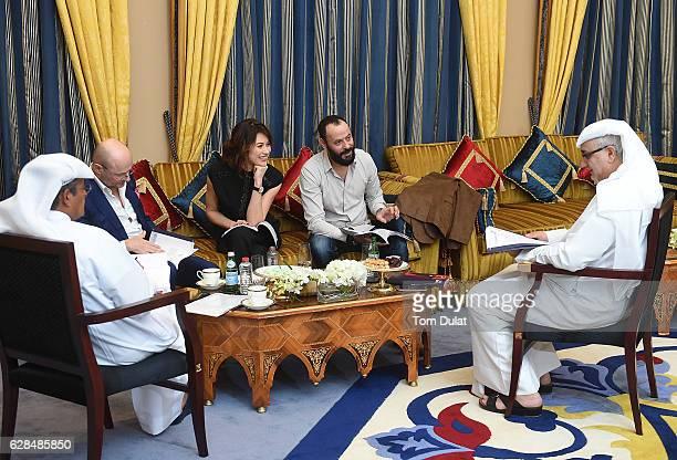 Abdulhamid Juma chairman of DIFF Georges Kern CEO IWC Schaffhausen Olga Kurylenko Ali Suliman and Massoud Amralla Al Ali artistic director of DIFF...