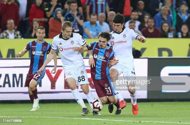 Abdulkadir Omur of Trabzonspor in action during Turkish Super Lig soccer match between Trabzonspor and Besiktas at the Medical Park Stadium in...