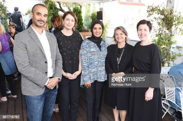 Abdulla Al Mosallam Director of Strategy and Development Hanaa Issa CEO Fatma Al Remaihi with Documentarian Marion Lacombe and Janet at the Doha Film...