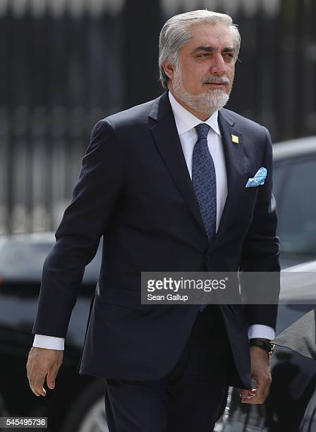 Abdullah Abdullah Cheif Executive Officer of Afghanistan arrives for the Warsaw NATO Summit on July 8 2016 in Warsaw Poland NATO member heads of...