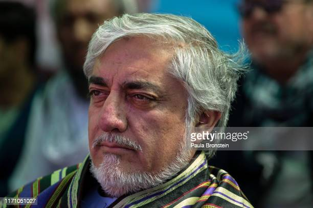 Abdullah Abdullah Chief Executive of Afghanistan is seen during his final rally in Bamiyan Afghanistan on September 25 2019 Afghans will head to the...