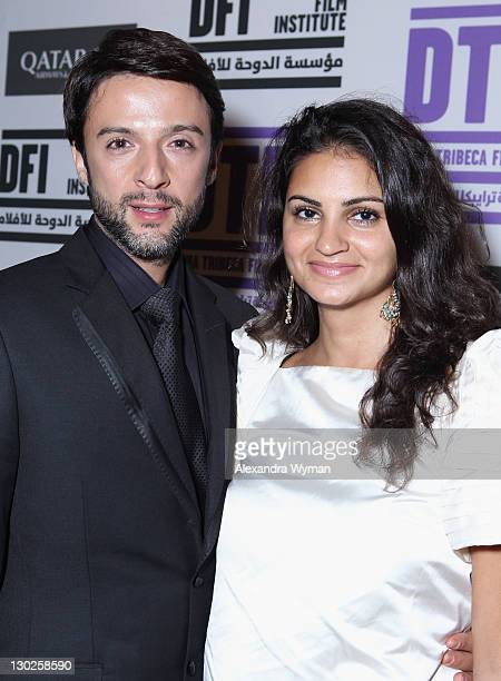 Abdullah Al Kaabi and Ahd Kamel attend the Opening Night After Party at the Intercontinental Hotel during day 1 of the 2011 Doha Tribeca Film...