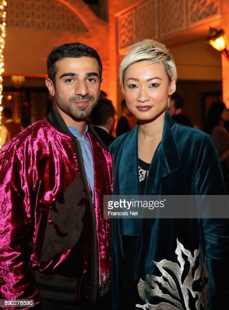 Abdullah Al Kaabi and Esther Quek attend Piaget celebrates Abdullah Al Kaabi's talent by hosting a private screening of his short film 'More Than...