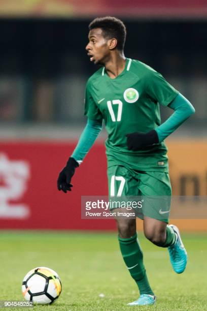 Abdullah Al Khaibari of Saudi Arabia in action during the AFC U23 Championship China 2018 Group C match between Jordan and Saudi Arabia at Changshu...