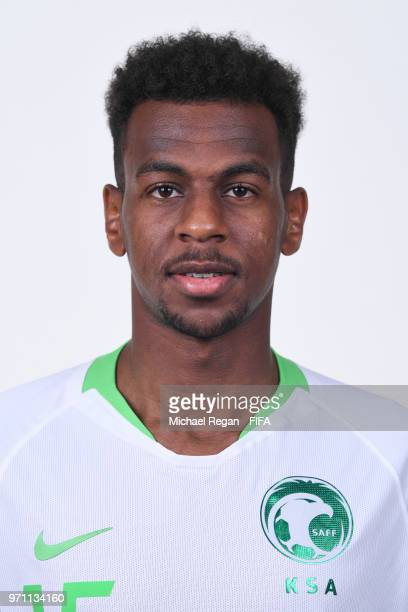 Abdullah Al Khaibari of Saudia Arabia poses during the official FIFA World Cup 2018 portrait session at on June 10 2018 in Saint Petersburg Russia