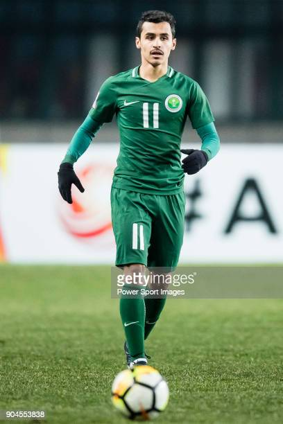 Abdullah AlJoui of Saudi Arabia in action during the AFC U23 Championship China 2018 Group C match between Jordan and Saudi Arabia at Changshu Sports...