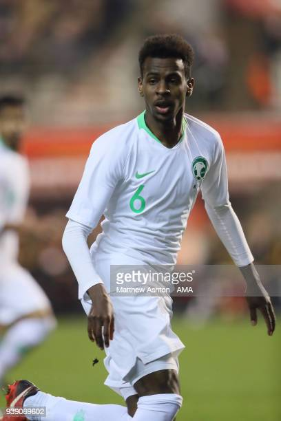 Abdullah AlKhaibari of Saudi Arabia during an International Friendly between Belgium and Saudi Arabia on March 27 2018 in Brussel Belgium