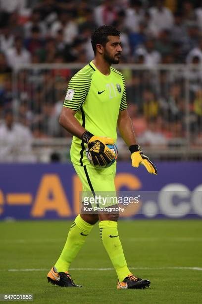Abdullah Almuaiouf of Saudi Arabia in action during the FIFA World Cup qualifier match between Saudi Arabia and Japan at the King Abdullah Sports...